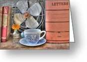 Antique Fan Greeting Cards - Nobody Writes Letters Anymore Greeting Card by Jane Linders