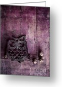 Chic Greeting Cards - Nocturnal In Pink Greeting Card by Priska Wettstein