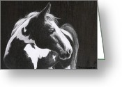 Western Pencil Drawing Greeting Cards - Nograce Greeting Card by David Ackerson