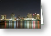 Orleans Pyrography Greeting Cards - NOLA Nights Greeting Card by Ray Devlin