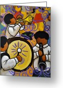 Children Music Greeting Cards - Nola Greeting Card by Yvonne Lozano