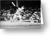 Throw Photo Greeting Cards - Nolan Ryan (1947- ) Greeting Card by Granger