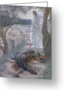 Bible Greeting Cards - Noli Me Tangere Greeting Card by Tissot