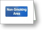 Quite Greeting Cards - Non Smoking Area Greeting Card by Henrik Lehnerer