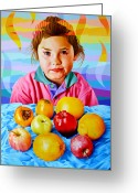 Persimmons Greeting Cards - Non voglio la frutta Greeting Card by Cosimo Mannu