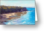 Signed Greeting Cards - Norah Head Australia Greeting Card by Graham Gercken