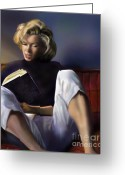 Marilyn Monroe Singer Greeting Cards - Norma Jeane Baker Greeting Card by Reggie Duffie