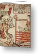 Norse Greeting Cards - Norse Mythology Hermod Assails Greeting Card by Photo Researchers
