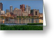 Roberto Greeting Cards - Norside Pano Greeting Card by Jennifer Grover