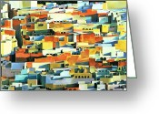 Northern Africa Greeting Cards - North African Townscape Greeting Card by Robert Tyndall 
