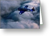 Storm Digital Art Greeting Cards - North American Aviation T-6 Texan Greeting Card by Chris Lord