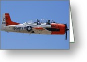 Trojan Greeting Cards - North American T-28B Trojan NX393W Valle AZ Greeting Card by Brian Lockett