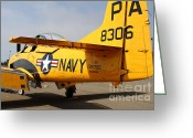 Trojan Greeting Cards - North American T28 Trojan US Navy Aircraft 7d15751 Greeting Card by Wingsdomain Art and Photography