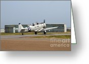 Texan Greeting Cards - North American T6 Texan Military Aircraft 7d15784 Greeting Card by Wingsdomain Art and Photography
