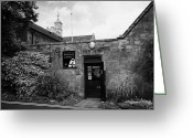Town Hall Greeting Cards - North Down museum and heritage centre in Bangor Castle now the town hall Greeting Card by Joe Fox