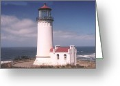 Ken Sjodin Greeting Cards - North Head Lighthouse1c Greeting Card by Ken  Sjodin
