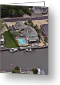 Flights Greeting Cards - North Lagoon Mantoloking New Jersey Greeting Card by Duncan Pearson