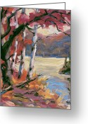 Artiste Greeting Cards - North Lake by Prankearts Greeting Card by Richard T Pranke