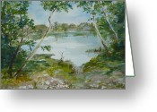 Lake Low Country Greeting Cards - North Lake Greeting Card by Dorothy Herron