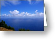 Molokai Greeting Cards - North Molokai Diptych L Greeting Card by Kevin Smith