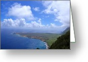 Peninsular Greeting Cards - North Molokai Diptych R Greeting Card by Kevin Smith