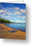 Pebbles Digital Art Greeting Cards - North Shore Beach Greeting Card by Bill Tiepelman