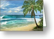 North Shore Greeting Cards - North Shore Greeting Card by Lisa Reinhardt