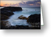 Dusk Greeting Cards - North Shore Tides Greeting Card by Mike  Dawson