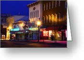Buffalo New York Greeting Cards - North Side Of East End Of Main Street Greeting Card by Don Nieman