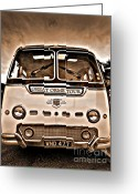 Coach Greeting Cards - North Wales Nostalgia Greeting Card by Meirion Matthias