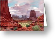 Mesa Greeting Cards - North Window View Greeting Card by Donald Maier