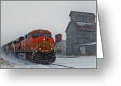 Colorado Prints Greeting Cards - Northbound Winter Coal Drag Greeting Card by Ken Smith