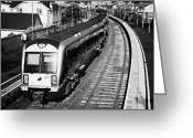 New Britain Greeting Cards - Northern Ireland Railways Passenger Train At Castlerock Railway Station Northern Ireland Greeting Card by Joe Fox