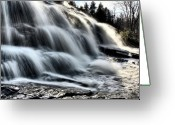 Heaven Digital Art Greeting Cards - Northern Michigan UP Waterfalls Bond Falls Greeting Card by Mark Duffy