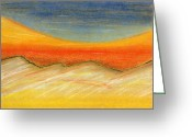 Expressive Pastels Greeting Cards - Northern Midnight Greeting Card by Hakon Soreide