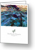 Ontario Mixed Media Greeting Cards - Northern Ontario Poster Series Greeting Card by Bob Salo