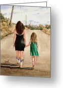 Friends Greeting Cards - Northwest Oklahoma Sisters Greeting Card by Sam Sidders