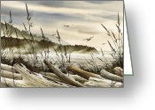 Print Landscape Greeting Cards - Northwest Shore Greeting Card by James Williamson