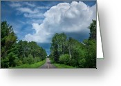 Wisconsin Greeting Cards - Northwoods Road Trip Greeting Card by Steve Gadomski