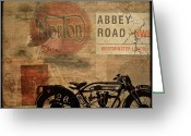 Motorbike Greeting Cards - Norton Greeting Card by Cinema Photography