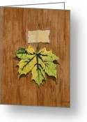 Autumn Leaves Pastels Greeting Cards - Norway Maple Greeting Card by Joanne Grant