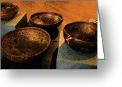Wooden Bowls Greeting Cards - Norwegian Bowls Greeting Card by Nina Fosdick