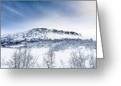 Wispy Greeting Cards - Norwegian Winter Greeting Card by Hakon Soreide