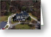 Chestnut Hill Wyndmoor Blue Bell Aerial Photographs Greeting Cards - Norwood Fontbonne Academy 8891 Germantown Avenue Philadelphia PA 19118 2777 Greeting Card by Duncan Pearson