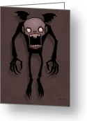 Monster Digital Art Greeting Cards - Nosferatu Greeting Card by John Schwegel