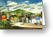 Arcadia Greeting Cards - Nostalgia Arcadia Valley 1985  Greeting Card by Kip DeVore