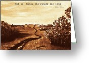 All Tree Greeting Cards - Not all Those who Wander are Lost Greeting Card by Anastasiya Malakhova