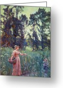 Kid Painting Greeting Cards - Not Far to Go Greeting Card by Frederick Morgan