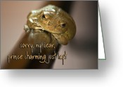 Brown Frog Greeting Cards - Not Prince Charming Greeting Card by Carolyn Marshall
