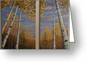 Alaska Greeting Cards - Notes of Fall Greeting Card by Dee Carpenter